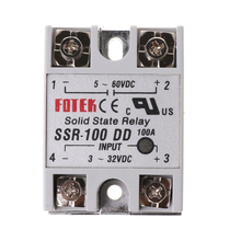 SSR-100 DD Solid State Relay Module 100A 3-32V DC Input 5-60V DC Output Relay rs1a48d100 plc 100a 230v solid state relay mini ssr relay output 42 530v ac input 4 32v dc voltage control relay switch module
