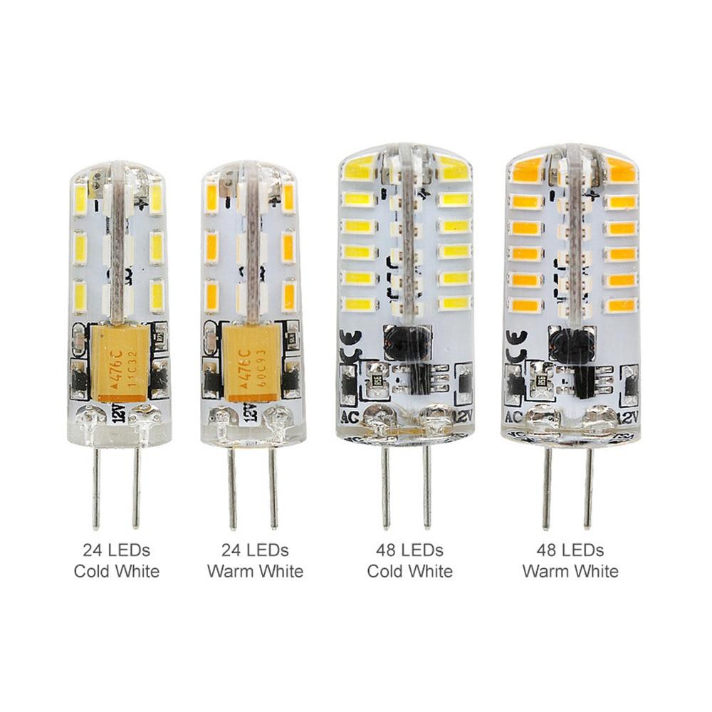 DC12V AC12V Mini G4 LED Light Bulb 2W 3W For Crystal Chandelier G4 LED Lights Lamp Replace 20w 30w Halogen Spotlight