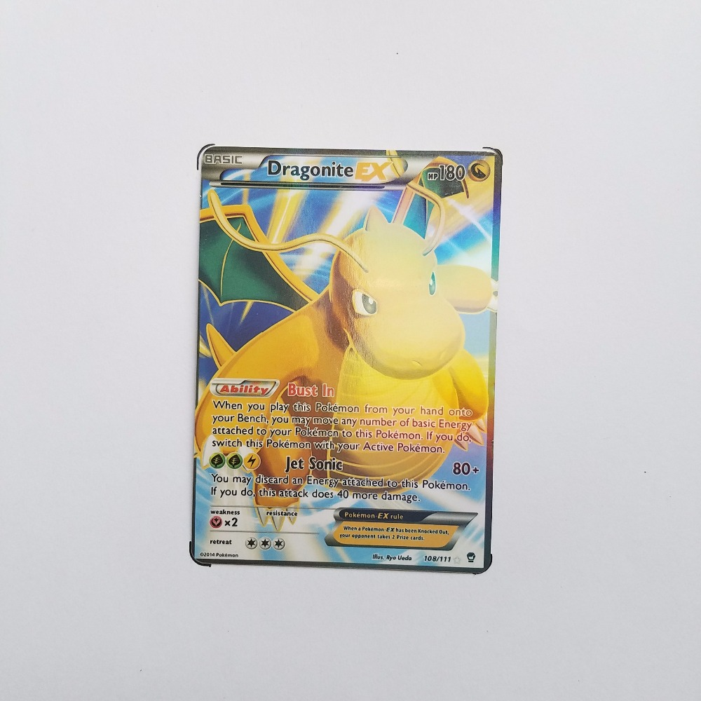 Pokemon Card Single Sale EX Shiny E-50001 DragoniteEX Card Play Anime Hot Toys Cards Game Trading Collection Children Gift