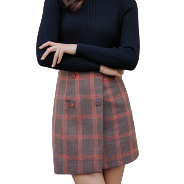 Brand New Plaid Print Mini Maternity Skirts for Pregnant Women 2 Color Available Size M-XL