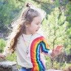 2017 Long Sleeve Kids Girls T shirt For girls Spring Fall Cartoon rainbow pink girls Children T-shirt 1-6 Years
