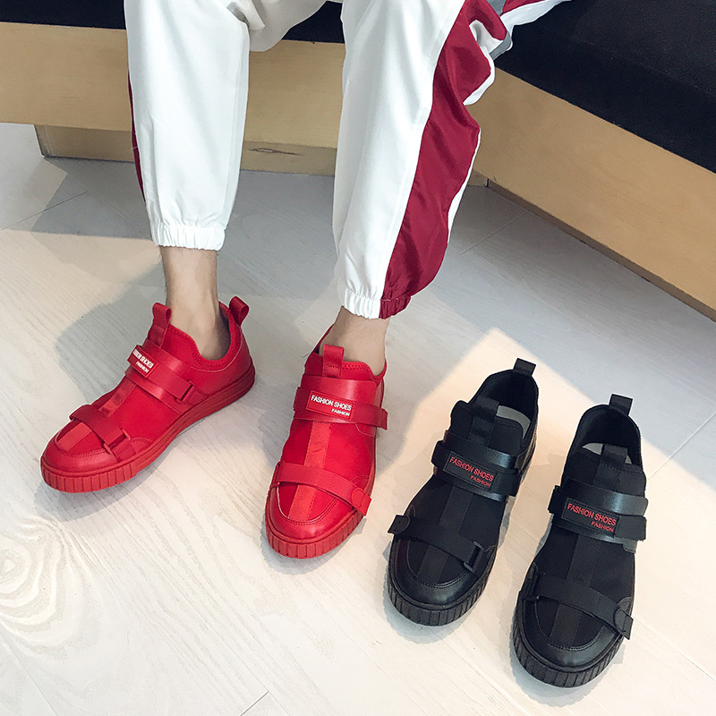 Mâle Rouges Mode Et Livraison Respirant Rouge De Coréen Chaussures 2019 Femmes Nouveau D'été Hommes Gratuite vmn08NOw