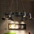 Amercian Retro Estilo Loft Luz Pingente LEVOU Modern Hanging Lamp Iluminação Interior Luminárias Para Sala De Jantar Casa de Ferro DropLight