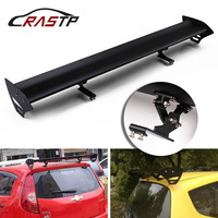 RASTP Adjustable Aluminum No Perforation Auto Car Hatchback Spoiler GT Style Rear Trunk Wing Tail Racing Spoiler RS LTB137