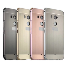 For HTC U11 Plus Case for HTC U11+ Brushed Back Cover Hard Case with Plating Metal Frame Case for HTC U11 Plus 6.0'' цена и фото