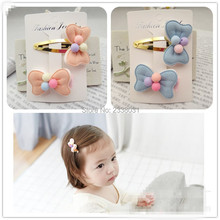 Lovely Bow Knot Hair accessories For Girls Cute Hairpin Candy Colors Kid Hair Clips Hairgrips Headdress