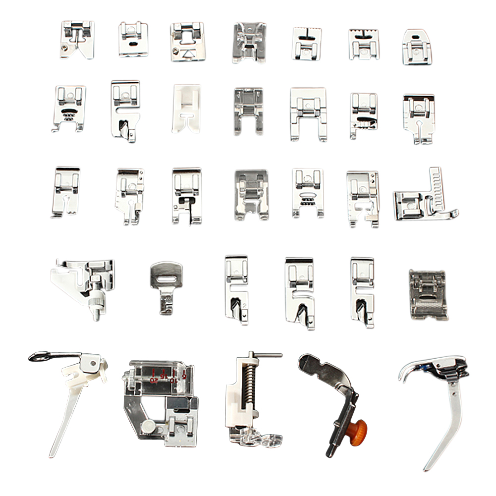32//62pcs Domestic Sewing Machine Presser Foot Feet Set for Brother Janome Singer