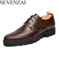 Mens Formal Leather Shoe Sale Business Designer Pointed Toe Dress Shoes Luxury Brand Ballet Flats Brogue