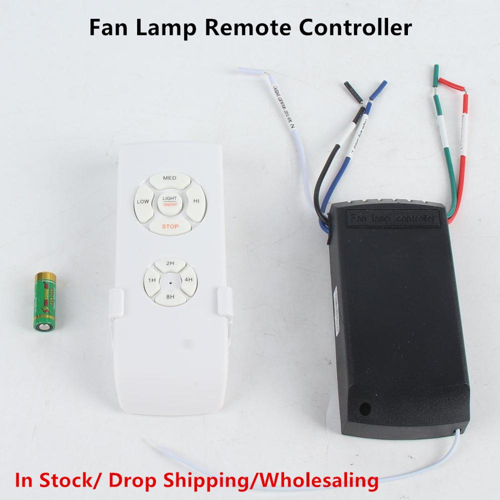 Universal Ceiling Fan Lamp Remote Control Kit 110-240V Timing Wireless Control Switch Adjusted Wind Speed Transmitter Receiver(China)