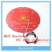 3D-принтеры Запчасти PCB MK2Y Heatbed + кабель + NTC термисторы с DuPont головы Алюминий с подогревом Диаметр с высокого качества