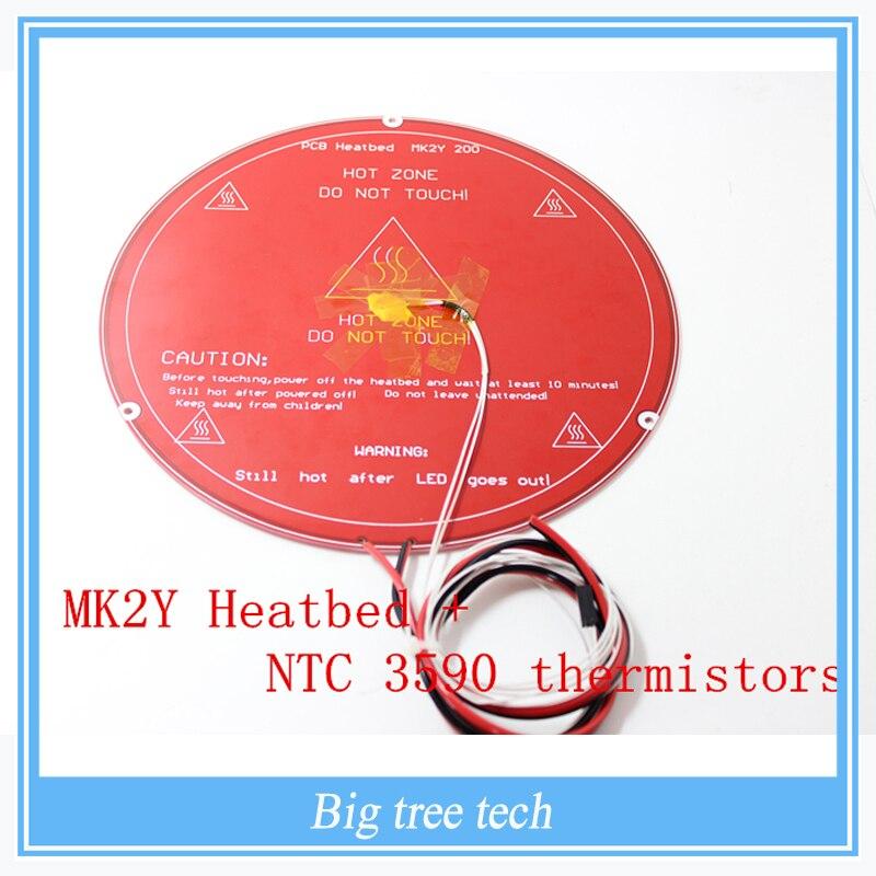 Peças de Impressora 3D Heatbed PCB MK2Y + Cabo + NTC termistores com DuPont cabeça de Alumínio Diâmetro Cama Aquecida com alta qualidade