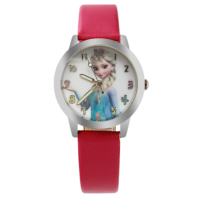 Fashion Brand Cute Kids Quartz Watch Children Girls Leather Bracelet Cartoon Wrist Watch Wristwatch Clock Montre Regarder Hot