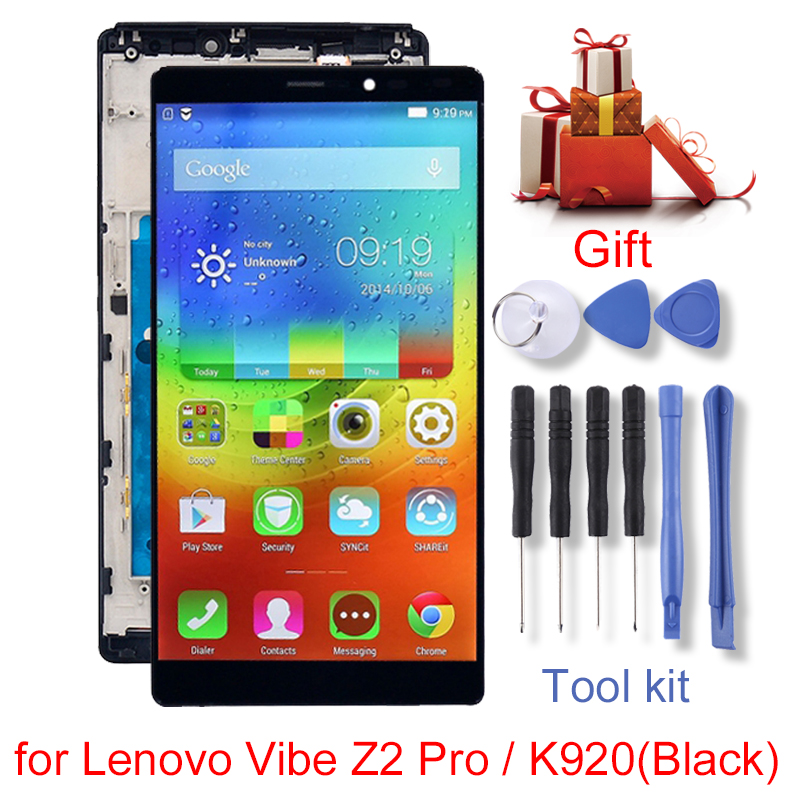 LCD Screen and Digitizer Full Assembly with Frame for Lenovo Vibe Z2 Pro/K920LCD Screen and Digitizer Full Assembly with Frame for Lenovo Vibe Z2 Pro/K920