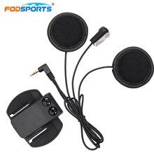 Fodsports Full-Face Helmet Headsets Soft Wire with Clip for V4 V6Pro Bluetooth Integral Helmet Intercom Headphone 3.5 Jack Plug