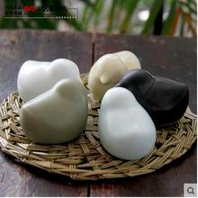 цена на 5pcs cute ceramic bird figurines home decor ceramic kawaii ornement crafts room decoration porcelain animal figurines