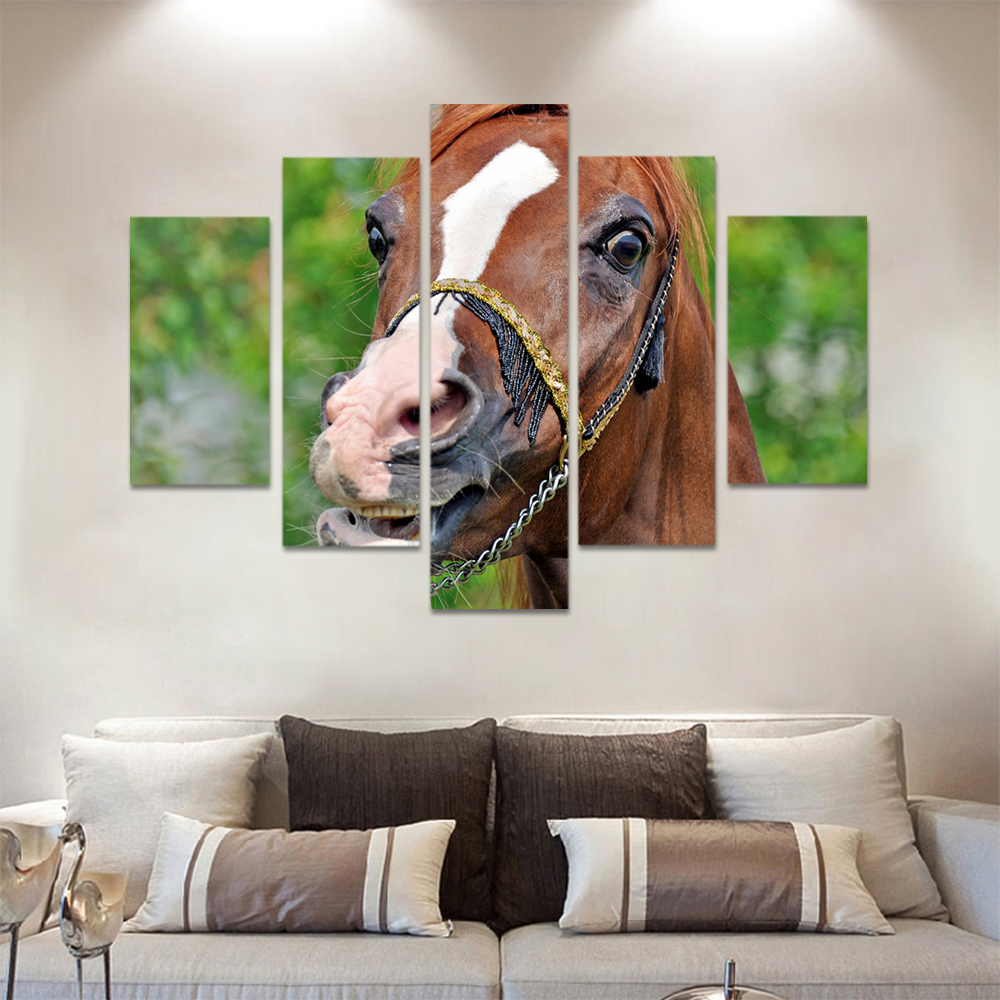 Unframed Canvas Animal Painting Meadow Horse Racecourse Prints Wall Picture For Living Room Wall Art Decoration Dropshipping