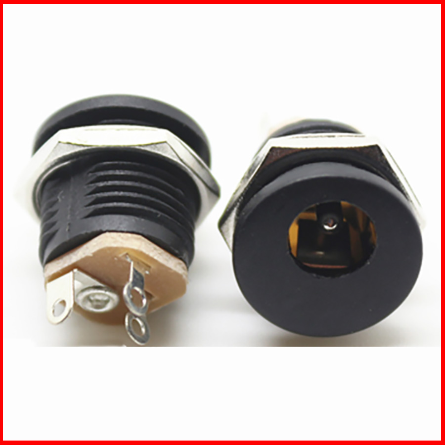Us 2259 10 Off 200pcs Dc 022 5521 Round Female Power Jack Interface Outlet With Screw High Quality In Connectors From Lights Femaledc 55dc Cable Product Lighting On