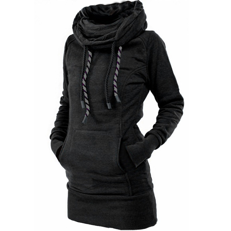 Manubeau Winter Hoodies For Women Cotton Long Sleeve Pocket Thick Keep Warm Fashion Pullovers Ladies Coat Outwear Clothing