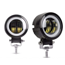 1 Or 2PCS 3inch 20W Off Road Work Light Round Spot Driving Fog Lamp Led Angel Eyes Bar for Motorcycle Offroad Car Boat