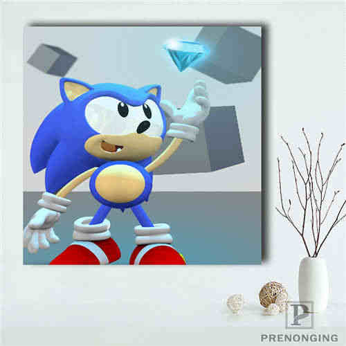 Custom Sonic The Hedgehog 2 Poster Printing Posters Cloth Fabric Wall Art For Living Room Decor 19 01 12 13 57 Aliexpress