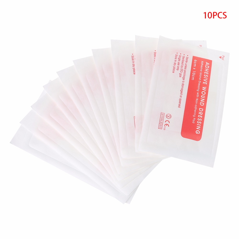 Free Shipping 10pcs Non-woven Medical Adhesive Wound Dressing Large Band Aid Bandage Care Tool   TONG6