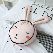 cute rabbit toy pink bunny head cotton font b pillow b font kisd toys gift for