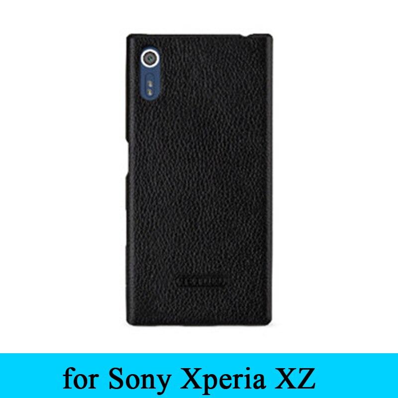 Tout nouveau 100% Top vache en cuir véritable arrière coque de téléphone pour Sony Xperia XZ F8332 5.2