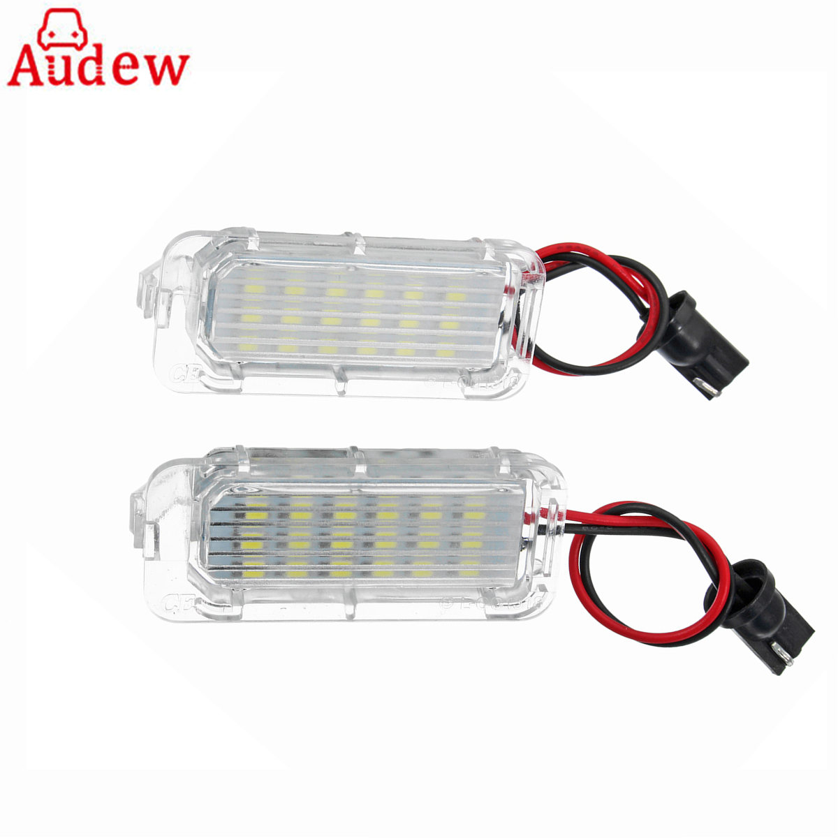 2PCS Car LED License Plate Light 18LED Lamps No error For Ford/Focus/Fiesta/Mondeo for MK4 Kuga for Galaxy for S-max for C max