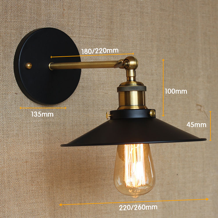 Edison Retro Vintage Λαμπτήρας Τοίχου LED - Εσωτερικός φωτισμός - Φωτογραφία 5