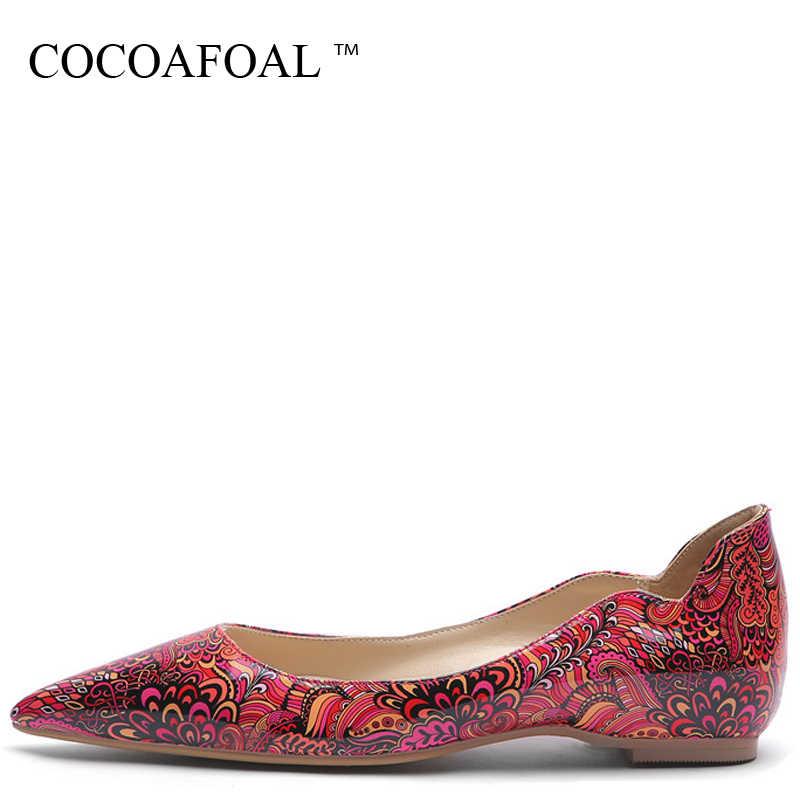 COCOAFOAL Plus Size vrouwen Platform Schoenen Wees Teen Flats Mode Lente Herfst Ondiepe Platform Ballet Schoenen Rood Geel