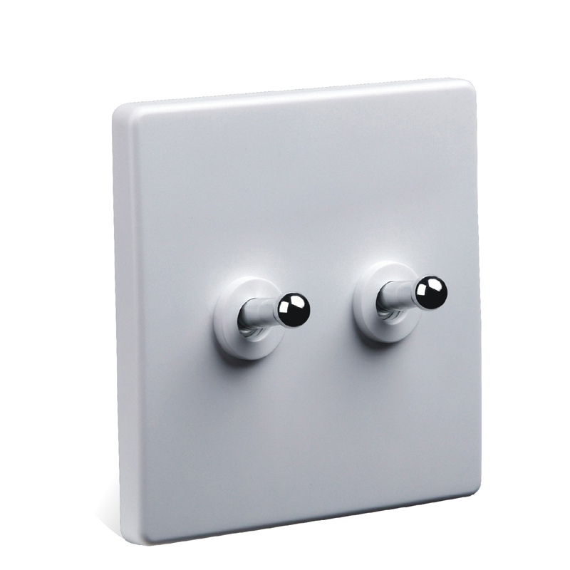 86 Style White Light Switch Two Control Two Way 10a 110v