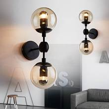 Vintage Wall Lamp Industrial style room decor Up and Down vanity light Indoor home Bedroom Living room glass bubble retro lamp стоимость