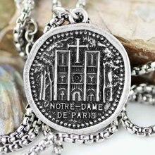 Collar Notre Dame de Paris 25*25mm Catedral gárgola Medieval guardián joyería