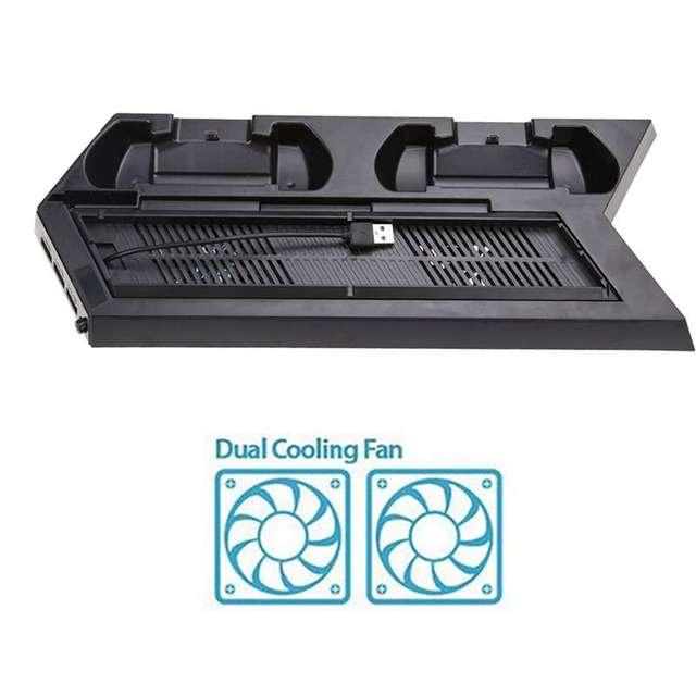 Boa Qualidade Suporte Vertical Ventilador De Refrigeração Dupla Estação de Carregamento USB Com HUB USB 4 Cooler Para PS4 Console/PlayStatio Quente venda