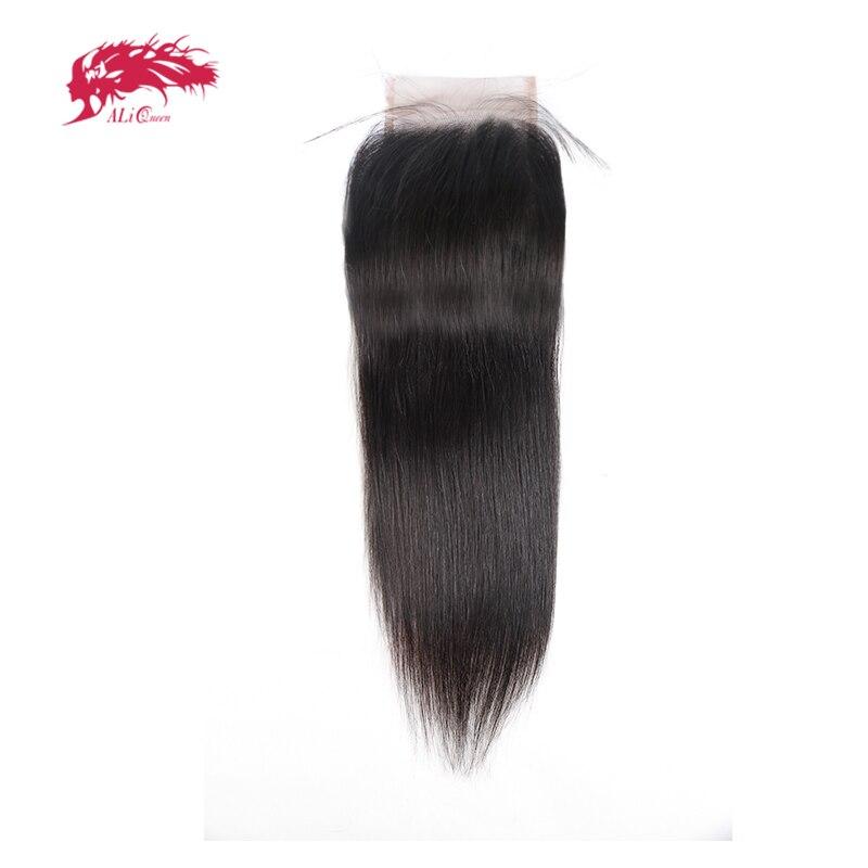 Али queen hair беленой узел девственные волосы швейцарский кружева закрытия свободной части естественный Цвет 12 до 18 100% натуральные волосы пер...