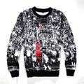 2016 Primavera/Otoño Hombres 3D Jersey Sudadera Con Capucha de Impresión Jordan Dunk Trapecio Sudadera de Manga Larga Con Cuello Redondo Camiseta Ocasional S-4XL