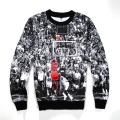 2016 Spring/Autumn Men 3D Pullover Hoodie Print Jordan Dunk Trapeze Sweatshirt Long Sleeve Crew Neck Casual Sweatshirt S-4XL
