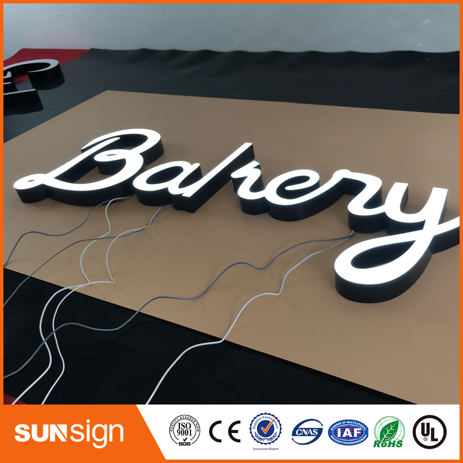 LED Light Frontlit Epoxy Resin Letters