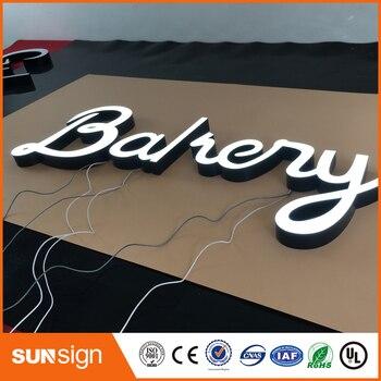 LED light frontlit epoxy resin letters