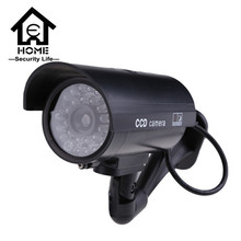 Dummy cameras cctv security fake flash red home camera waterproof outdoor