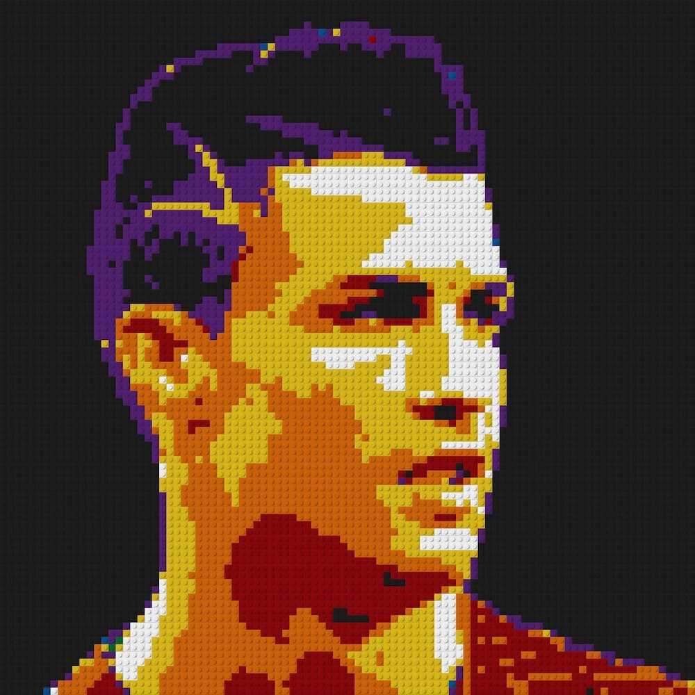 Pixel Art Mosaic Painting Creative Diy Gift France Kylian Mbappe Portrait Portugal C Ronaldo Football Team Building Blocks Set