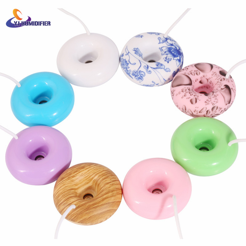 Mini floating humidifier Donuts home office Portable USB humidifier spray humidifier Air Fresher Floats Ultrasonic Mist pro jewelry floating mini charms for floating locket