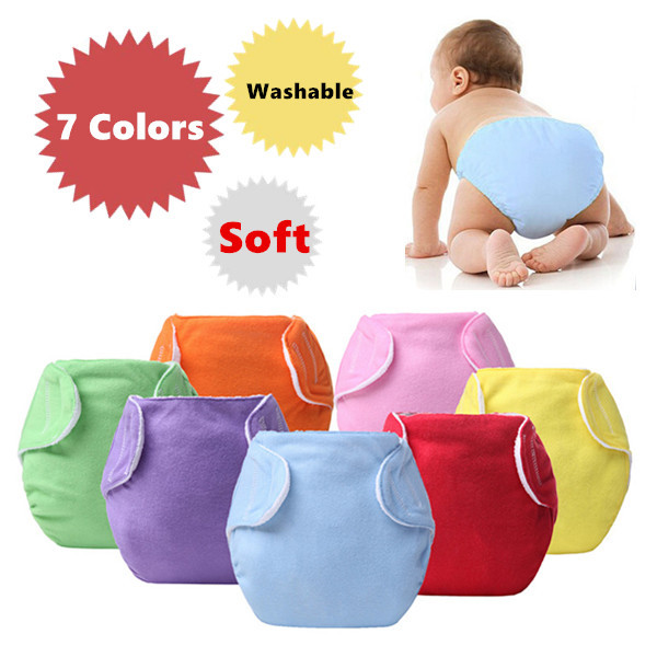купить Baby Diapers Children Cloth Diaper Reusable Nappies Adjustable Diaper Cover Washable Free Shipping QD23 по цене 42.16 рублей