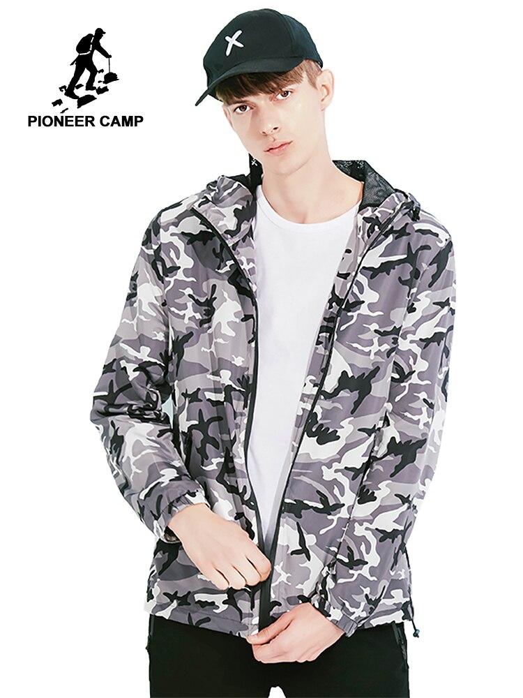 Пионерский лагерь камуфляжная куртка мужская брендовая одежда военной армии cтиль тонкая куртка пальто мужской качество верхняя одежда ...