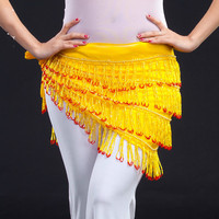 Yellow Hip Scarf Women Tribal Belly Dance Hip Scarves Belly Dancing Waist Belts On Sale