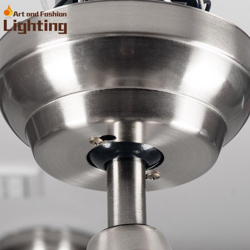 Aliexpress Super Leise Deckenventilator Lichter Grosse 52 Zoll Moderne Lampe Wohnzimmer Schlafzimmer Esszimmer Led Leuchten Von