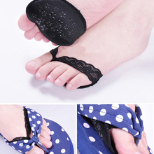 1 Pair Lace Invisible Forefoot Arch Support High Heel Shoes Insoles Flatfoot Orthotics Anti Slip Half Yard Pad Foot Care Tool