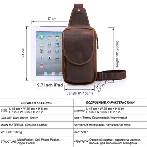 Image 2 - MISFITS 2019 new genuine leather messenger bag mens casual chest packs luxury brand crossbody bag cowhide shoulder bag for male