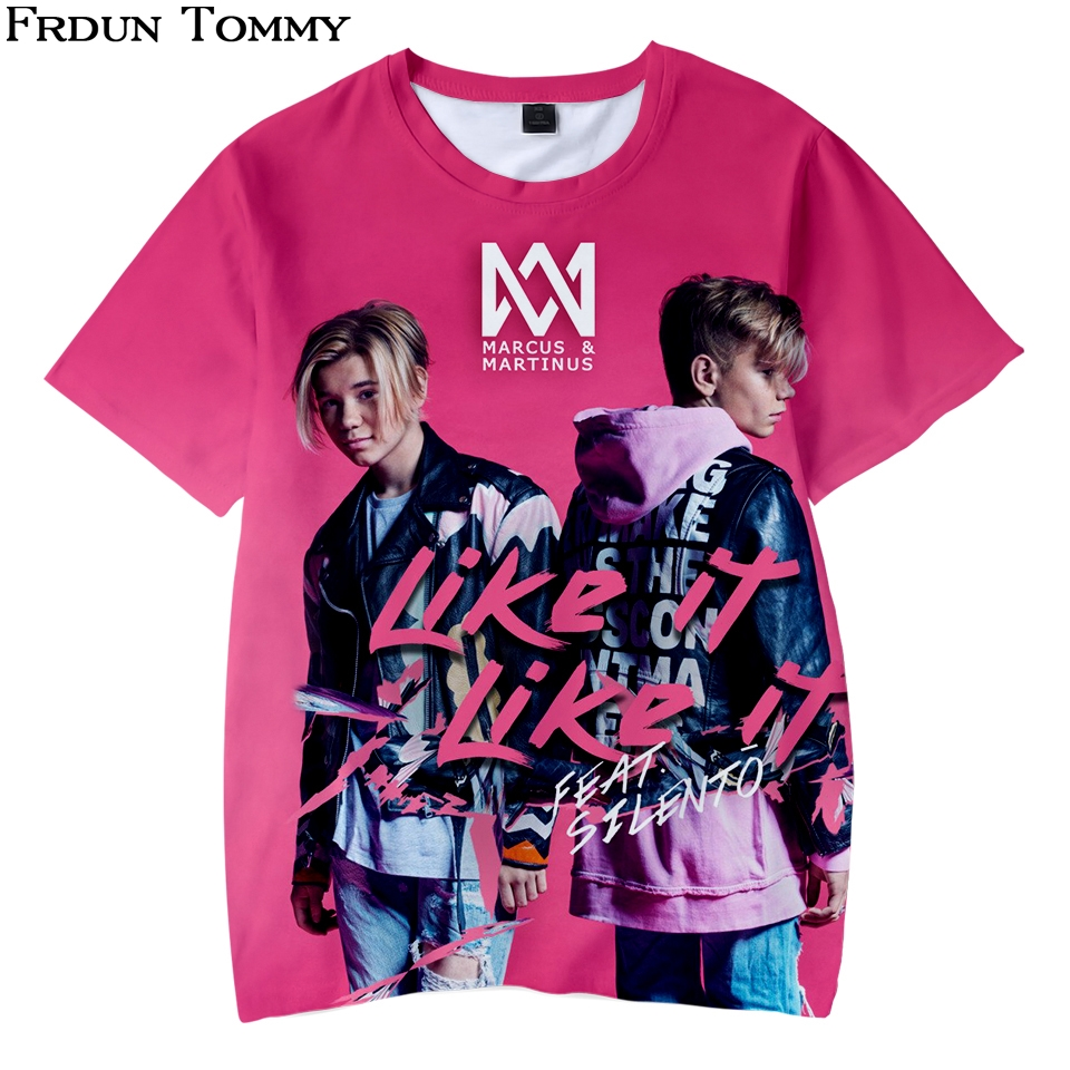 Frdun Tommy 3D Kids T-shirt Marcus &martinus Short Sleeve Funny Printed Fashion Pullover Casual High Quality 2018 NEW Tops(China)