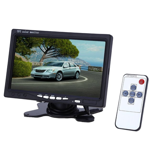 TOPS 7 Inch Universal Car Headrest 234 x 480 TFT LCD Screen Monitor With Automatically Shifted Image When Car Reversed XM722T